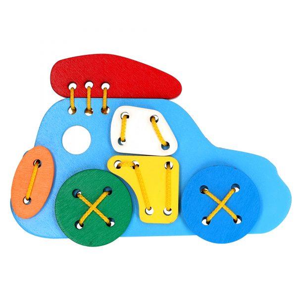Розвиваюча іграшка Шнуровка Джип К103 Komarovtoys