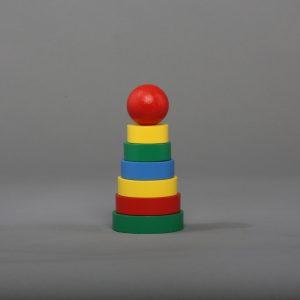 """Пирамидка """"Кольцевая"""" 7элементов-0"""