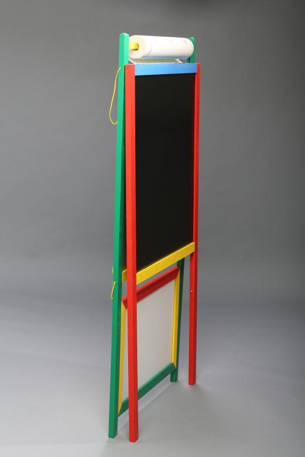 Доска магнитная для рисования мелом и фломастером + мольберт (напольная)-604