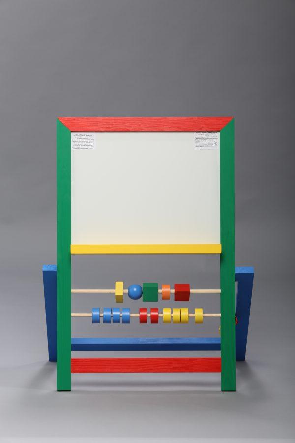 """Доска магнитная для рисования мелом и фломастером + мольберт (напольная). """"Малыш""""-0"""
