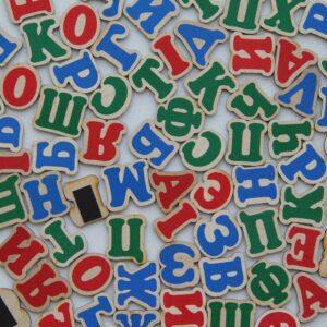 Набор Украинский алфавит на магнитах 72 буквы.-0