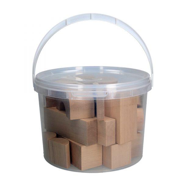 Розвиваюча іграшка Набір Будівельник ЕКО не фарбований 30д. А316 Komarovtoys