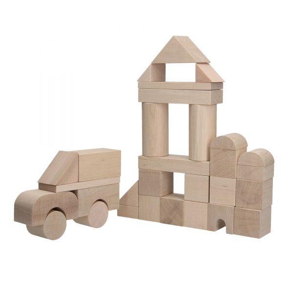 Развивающая игрушка Набор Строитель ЕКО не крашенный 30д. А316 Komarovtoys