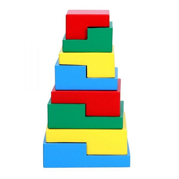 Деревянная развивающая игрушка Пирамидка Головоломка 8эл. А332 Komarovtoys