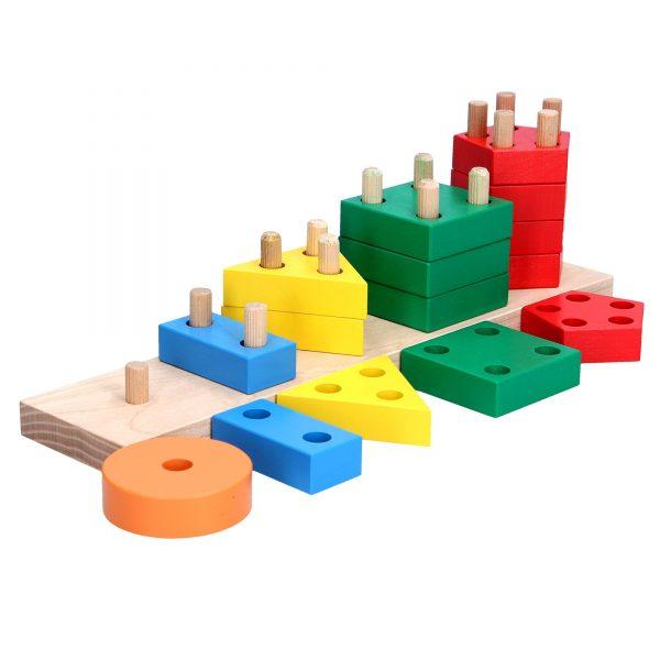 Wooden educational toy Geometric piramid. А337 Komarovtoys
