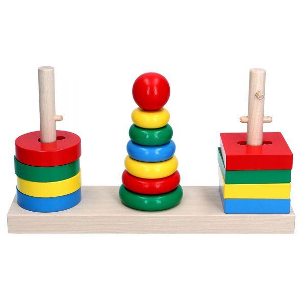 Деревянная развивающая игрушка Игра 3в1. А338 Komarovtoys