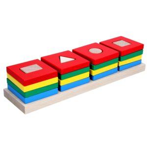 Дерев'яна розвиваюча іграшка Пірамідки Кольоровий квартет. А344 Komarovtoys