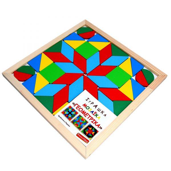 Дерев'яна розвиваюча іграшка Мозаїка Геометрика 4фігури. А346 Komarovtoys