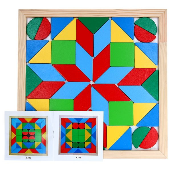 Wooden educational toy Mosaik Geometrika 4 figures. A346 Komarovtoys