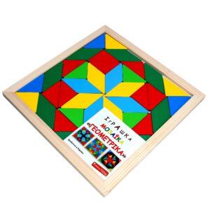 Дерев'яна розвиваюча іграшка Мозаїка Геометрика 2 фігури. А347 Komarovtoys