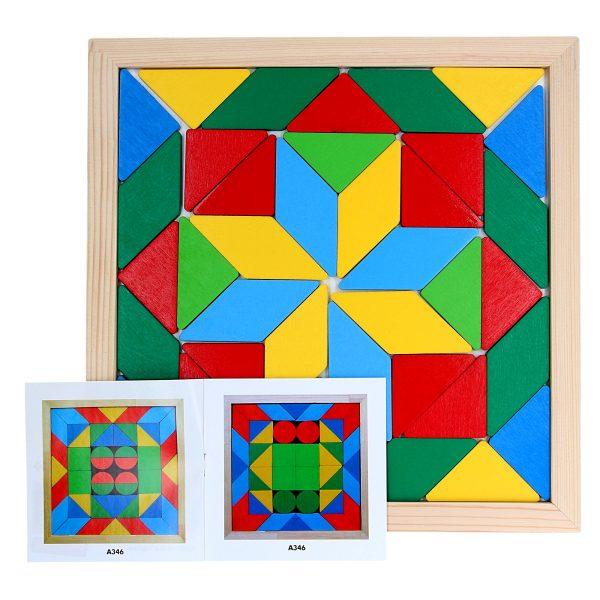 Wooden educational toy Mosaik Geometrika 2 figures. A347 Komarovtoys
