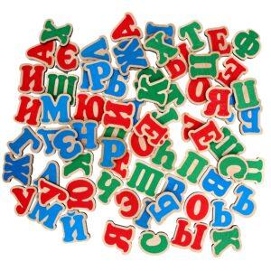 Розвиваюча іграшка Набір Російська абетка на магнітах 72 елементи. J706 Komarovtoys