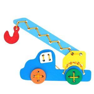 Розвиваюча іграшка К104. Шнуровка Автокран Komarovtoys