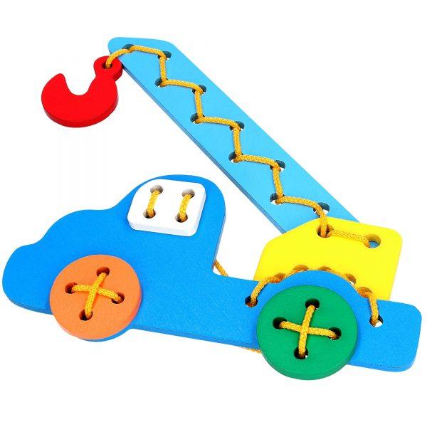 Educational toy K104. Lacing Auto-crane Komarovtoys