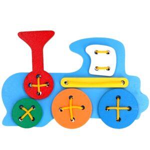 Розвиваюча іграшка К105. Шнуровка Паровоз Komarovtoys