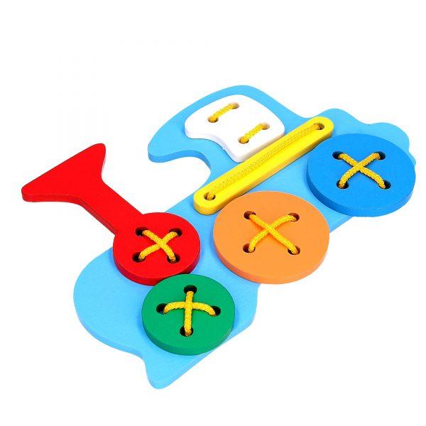Educational toy K105. Lacing Train Komarovtoys