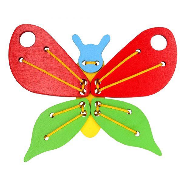 Розвиваюча іграшка К113. Шнуровка Метелик Komarovtoys