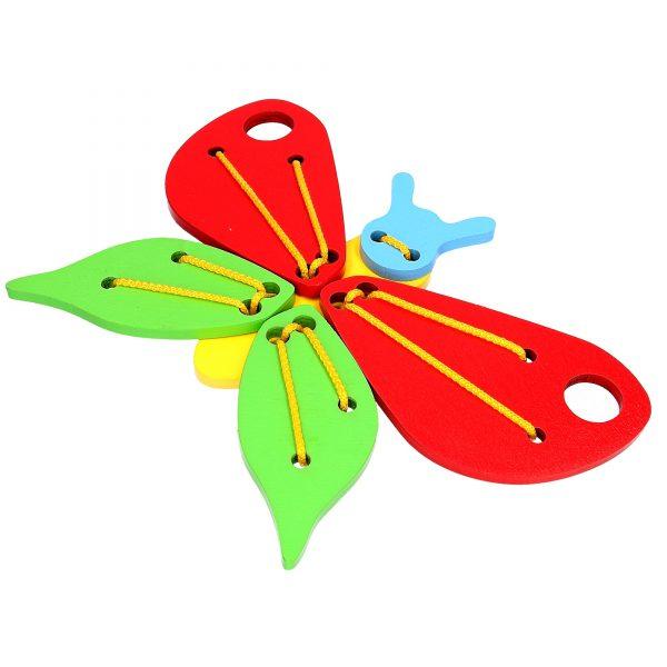 Развивающая игрушка К113. Шнуровка Бабочка Komarovtoys