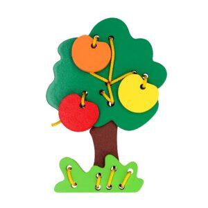 Розвиваюча іграшка К121. Шнуровка Дерево Komarovtoys