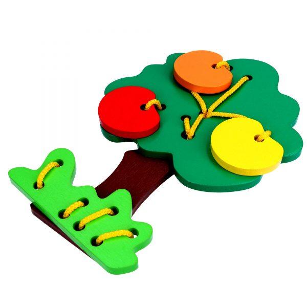 Развивающая игрушка К121. Шнуровка Дерево Komarovtoys