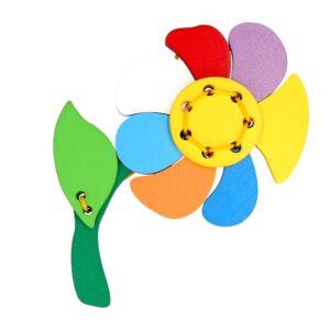 Розвиваюча іграшка К122. Шнуровка Квітка Komarovtoys