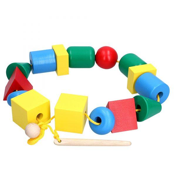Развивающая игрушка К124. Шнуровка Бусы Макси Komarovtoys