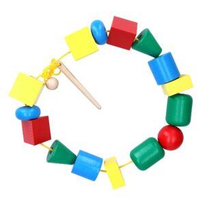 Розвиваюча іграшка К124. Шнуровка Намисто Максі Komarovtoys