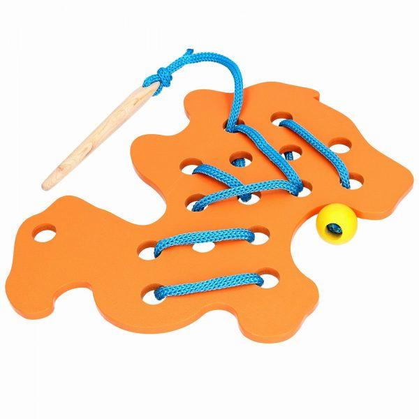 Развивающая игрушка К135. Шнуровка Верблюд Komarovtoys