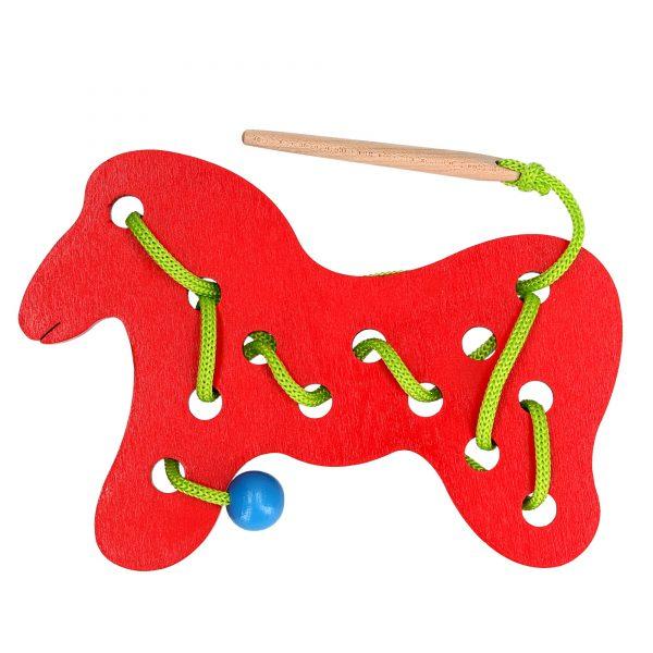 Розвиваюча іграшка К137. Шнуровка Кінь Komarovtoys