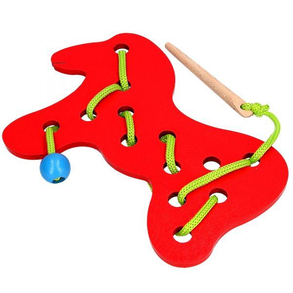 Развивающая игрушка К137. Шнуровка Лошадь Komarovtoys