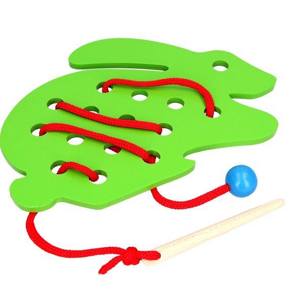Развивающая игрушка К138. Шнуровка Кролик Komarovtoys