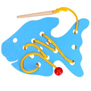 Розвиваюча іграшка К140. Шнуровка Риба Komarovtoys
