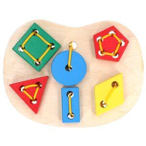 Розвиваюча іграшка К145. Шнуровка Геометрична Komarovtoys