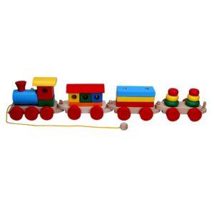 Розвиваюча іграшка Паровоз 3 вагони Р201 Komarovtoys