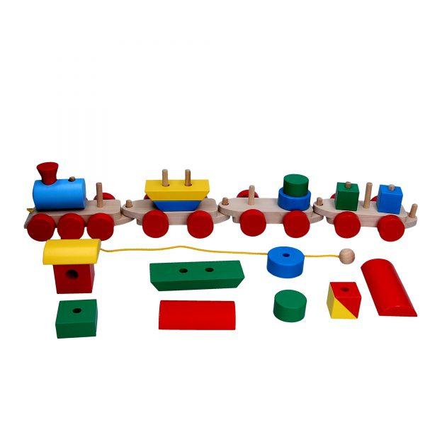 Развивающая игрушка Паровоз 3 вагона. Р202 Komarovtoys