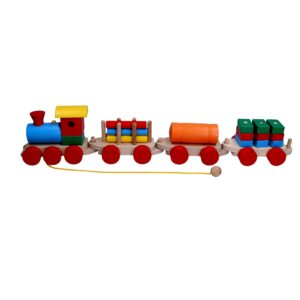 Розвиваюча іграшка Паровоз 3 вагони. Р203 Komarovtoys
