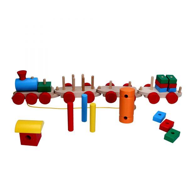 Развивающая игрушка Паровоз 3 вагона. Р203 Komarovtoys