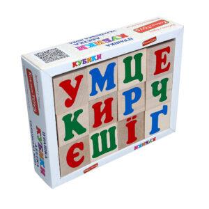 Дерев'яна розвиваюча іграшка Кубики Українська абетка. Т601 Komarovtoys