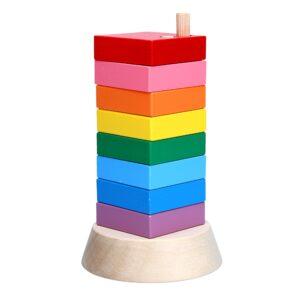 A324. Дерев'яна розвиваюча іграшка Пірамідка Вундеркінд. Komarovtoys