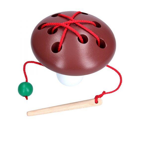 Educational toy K149. Lacing Mushroom Komarovtoys
