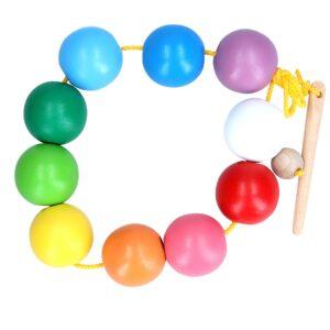 Розвиваюча іграшка К153. Шнуровка Намисто кольорові кульки Komarovtoys