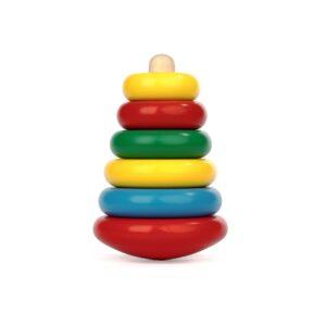 A304. Дерев'яна розвиваюча іграшка . Пірамідка . Komarovtoys