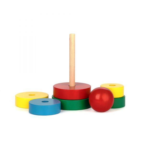 A323. Wooden educational toys. Pyramid. Komarovtoys