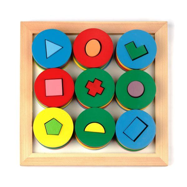 A329. Дерев'яна розвиваюча іграшка .Гра Цікаві форми. Komarovtoys