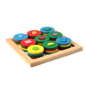 A329. Wooden educational toys.game interesting shapes. Komarovtoys