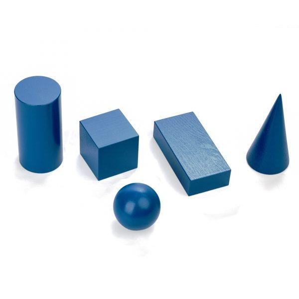 A341. Wooden educational aids.Geometric bodies . Komarovtoys