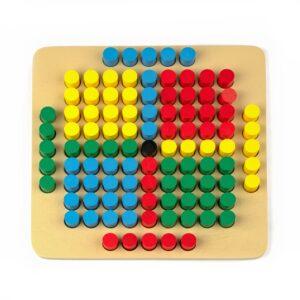 A343. Дерев'яна розвиваюча іграшка . Мозаїка 101 елемент. Komarovtoys
