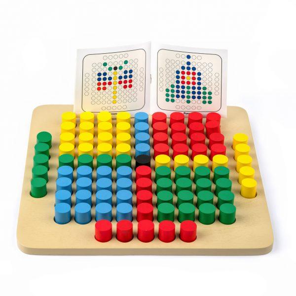A343. Дерев'яна розвиваюча іграшка. Мозаїка 101 елемент. Komarovtoys