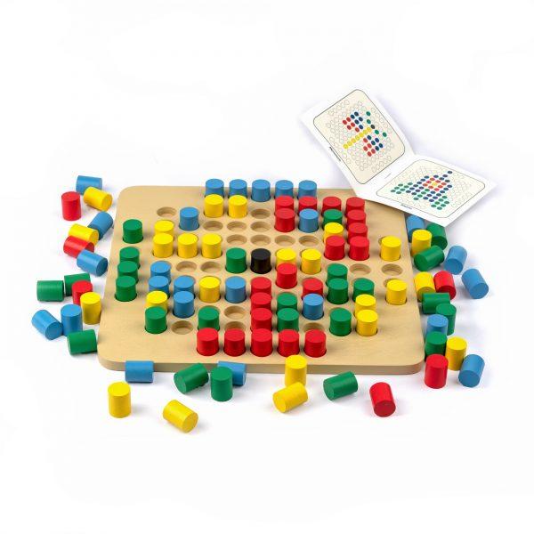 A343. Деревянная развивающая игрушка. Мозаика 101 элемент. Komarovtoys