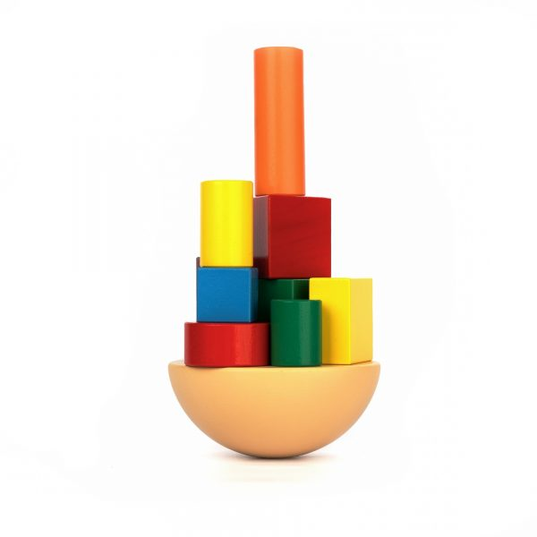 A351. Дерев'яна розвиваюча іграшка Набір. Балансир Крива Вежа. Komarovtoys